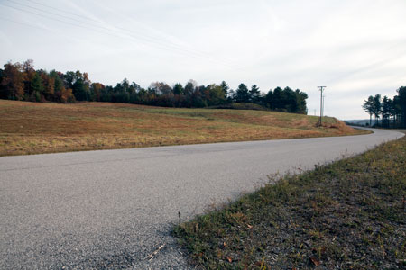The proposed data center site sits empty