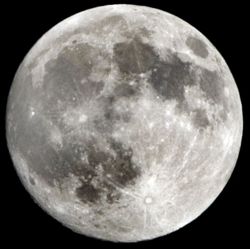 A full moon and Happy Thanksgiving